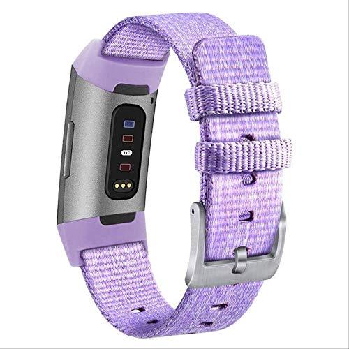 Muysmys gewebt für Frauen Männer, Stoff Band Nylon Sport Handgelenk Riemen mit verstellbaren Verschluss Uhr Armband für 210mm lila -
