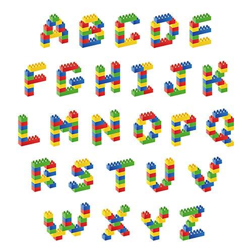decalmile Alphabet Wandtattoo Peel und Stick Entfernbar Bunte ABC Wandaufkleber für Vorschulkind Kinder Babyzimmer