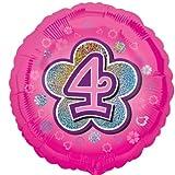 Amscan Blumen 4Standard Holografische Folie Ballon, Pink