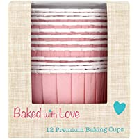 Baked With Love Pink Baking Cups Pack, Pack of 6