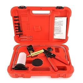 Amzdeal Pompa a Vuoto Manuale Spurgo Freni, per Automobili e Motocicli Spurgo Freni Auto Spurgo Frizione Tester, Kit…