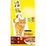 Friskies Chat Croquettes pour chat adulte Bœuf, Poulet & Légumes ajoutés 7,5 kg
