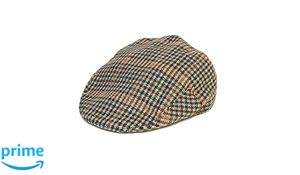Grey, Brown, Beige Hat To Socks 8-Panel Ladies Mens Womens Unisex Wool Blend Newsboy Gatsby Ivy Flat Cap with Dogtooth Houndstooth Pattern