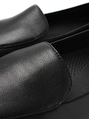Fitflop Women's Sneaker Loafer – Black Leather Schwarz