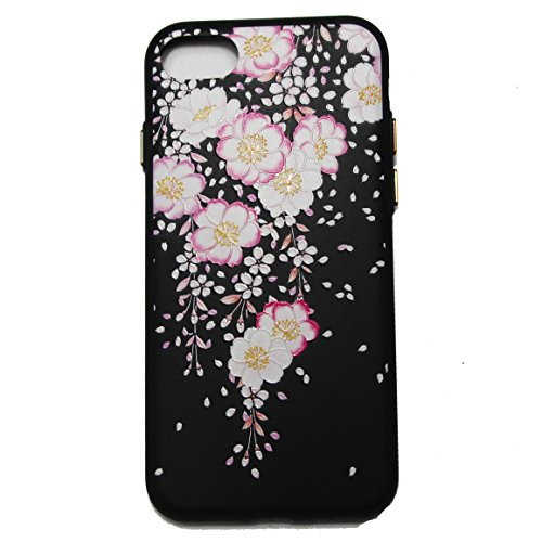 Linvei iPhone 7 Plus(5.5inch) Coque,Etui Anti Chocs Back Cover Bumper Case Anti Scratch Shock Absorption for Apple iPhone 7 Plus(5.5inch)-Conception de fleurs de prunier Design floral rose rose