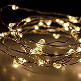 Multistore 2002 200er LED Micro Lichterkette Kupferdraht, 10x Lichterstränge je 200cm, warmweiß, Kabelfarbe Silber, In- & Outdoor
