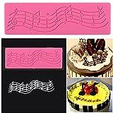 1Stück Süß Multi Musik Note Spitze Silikon Sportballform, Fondant Kuchen Backmatte Biscuit Cookie Paste Schokolade Formen DIY Kuchen dekorieren Werkzeug Rectangular Mould