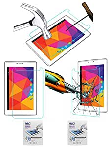 Acm Pack of 2 Tempered Glass Screenguard Compatible with Micromax Canvas Tab P480 Tablet Screen Guard Scratch Protector Screen Protectors