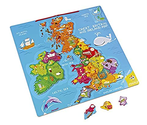 Jura Toys J05484 Janod Magnetic Great Britain and Ireland