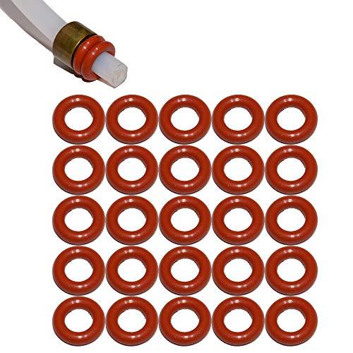 SW-K 25x Dichtung für 4mm Druckschlauch Teflonschschlauch geeignet für Saeco Philips Siemens Bosch Krups Spidem Gaggia Miele Solis König Rotel Satrap TurMix Jura Delonghi Melitta AEG Neff Gaggenau