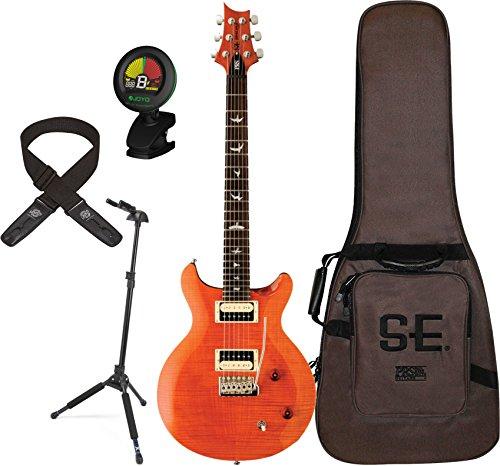 prs-cs4or-santana-electric-guitar-orange-w-gig-bag-locking-stand-tuner-and-lock-it-strap