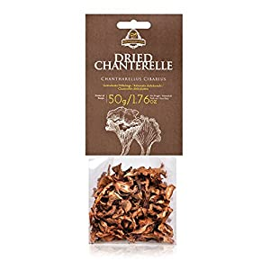 Dried Chanterelle Mushrooms | 50 Gr. / 1.7 Oz.in Transparent Plastic Bag | European Finest Chanterelle harvested in 2017
