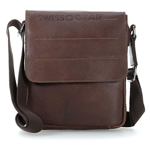 Wenger Swiss Gear Street Hunter cartella borsa a tracolla pelle 20 cm Brown (Braun)