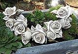 Rosenranke Rosenblüte Rose Blüte BlumenTischdekoration Gartendekoration Grabschmuck Grab Dekoration GRAU