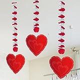 Hängedekoration Rote Herzen Hochzeit Valentinstag