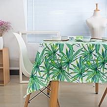 Planta Verde nórdica algodón Engrosamiento Mantel Pastoral Nordic Table Cloth Mesa Mesa de café Cubierta de