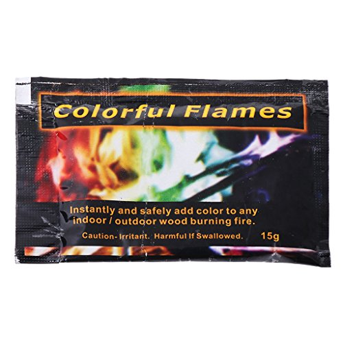 Xuniu fire powder, mystical fire powder magic trick colored flames falò camino pit patio toy fiamma colorata