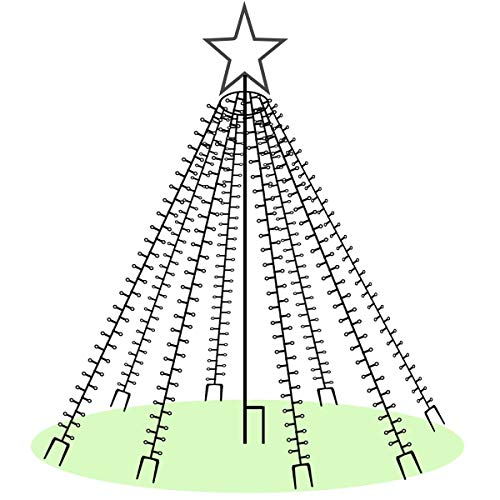 LED-Weihnachtsbaum 250 cm mit Stern beleuchtet mit 820 Micro-LED warmweiß für den Garten außen