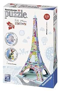 Ravensburger - 12567 8 - Tour Eiffel, Tula Moon Special Edition, Puzzle 3D Building, 216 Pezzi