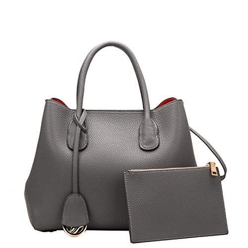 Mefly Single Schulter Big Bag Leder Erste Schicht Kuh Leder Tasche gray