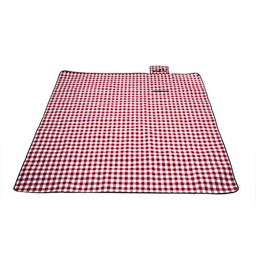 Moistureproof Picknick-Matte Tragbare Dicke Doppelte Wilde Camping Picknick-Matte 3 Personen -4 Personen Strand Picknick-Tuch (Color : Red and White, Size : 200 * 150cm)