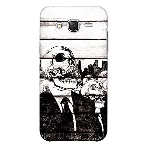 Samsung J7 Next Premium Stylish Printed Designer Hard Back Cover Case   GENTLEMAN SKULL PLANK   comics & Cartoons   Danger   Not A Real Wood   Scratch Proof   Lifetime Printing Guarantee   HD Printing Quality   Waterproof   Durable   Slim Light Weight   Matte Polycarbonate Plastic Case Cover   3 Side Edge to Edge Printing - Crazyink