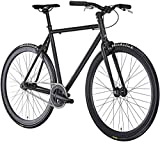Fixie Singlespeed Fahrrad Floater Black 2018 | Leichtes Fixed-Gear City-Bike in Matt-Schwarz | Cooles Design, 28-Zoll Laufräder