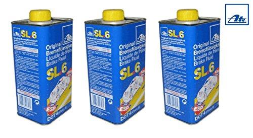 SET pratique ! 3 x 1 litre 03990164022 sL6 dOT4 liquide de frein aTE