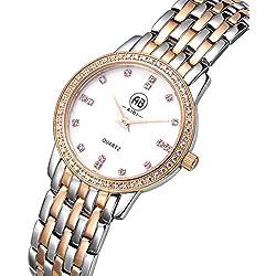 AIBI Wasserdichte Damen-Armbanduhr Analog Quarz Edelstahl AB00101-3