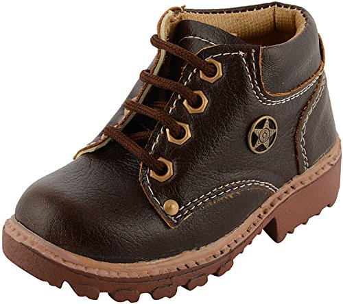 Nody Baby Boy's Brown Synthetic Booties - Size 13 Uk/Age 6-7 Years/Length 20.8 Cms