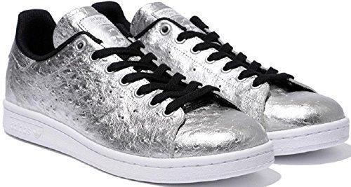adidas Originals Stan Smith vera pelle sneaker argento AQ4706 , Size:42
