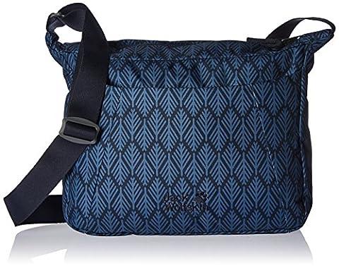 Jack Wolfskin Damen Valparaiso Geometrische Blätter Messenger Bag, Midnight Blue, 8l