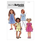 Butterick Patterns B4176 Size 2-3-4-5 Childrens and Girls Top/ Dress/ Shorts/Pants, Pack of 1, White
