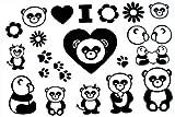 2012más tarde de nuevo diseño caliente venta Hombres y Mujeres técnicas de tatuaje pegatinas impermeable Panda Tatuajes temporales