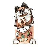 """Ceramics World art-030104 Spardose """"Katze mit Schnecke"""", Handarbeit"""