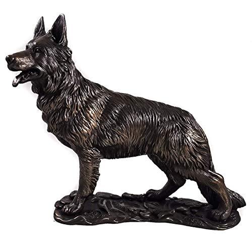 Skulptur Deutscher Schäferhund Schäferhund, Bronze, groß -