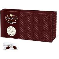 Gangemi Confetti - 1kg Peladillas, grageas de chocolate Alta calidad - Clásicos Italianos de la boda, bautismo, etc. - (Aprox. 250) Blanco