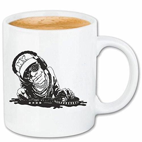 Reifen-Markt Kaffeetasse DJ Rock Musik is NO Limit Schlagzeug Skull Gitarre Sonnenbrille Techno Jazz...