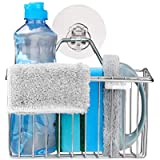 Sink Tidy-Bogeer Kitchen Brush,Sponge,Towel Holder-Sink Caddy-Wash Up Organiser-Wall Caddy Storage-Stainless Steel