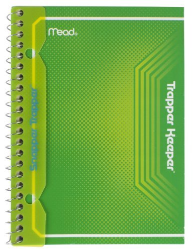 mead-trapper-keeper-snapper-trapper-spiral-notebook-1-subject-wide-ruled-7-x-438-inch-green-72722-by