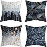 Pillow Covers 18x18 inch for Home Decor Set of 4 Throw Pillow Covers Square Cushion Case for Sofa Couch Home D