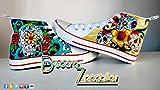Zapatillas customizados personalizados lona Calaveras Mexicanas, regalos cumpleaños - regalos para el - regalos para ella - aniversario - San Valentin