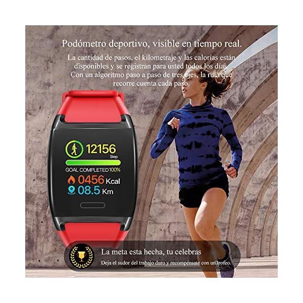 HalfSun Impermeable IP67 Smartwatch, HD Color Screen,Pulsera Inteligente con Pulsómetro, Monitor de Presión Arterial,Monitor de Calorías, Sueño, Podómetro,Pulsera Actividad para Android y iOS 7
