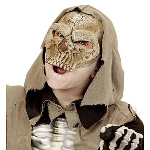 Latex Knochen Totenkopf Maske (Totenkopf Skelett Latex Kids Halb)