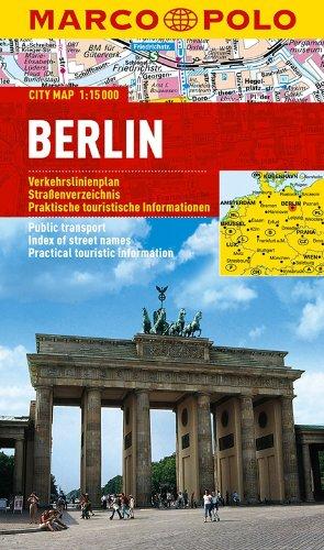 MARCO POLO Cityplan Berlin 1:15 000: Stadsplattegrond 1:300 000 / 1:15 000 (MARCO POLO Citypläne)