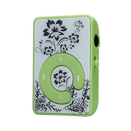 OSYARD MP3 Player,Musik Player,Tragbare Mini Retro Blumenmuster MP3-Player Musikmedien Unterstützung Micro SD TF-Karte,Touch-Taste Verlustfreie Sound Clip Sport Musik Player mit Ladekabel