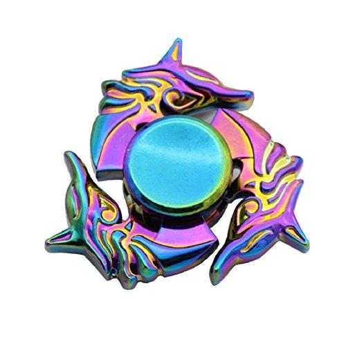 Preisvergleich Produktbild Fidget Hand Spinner Spielzeug NEUE Kreative Legierung Hand Spinner Tri Fidget Fokus Spielzeug EDC Finger Spin Gyro Autismus Sufferer Langeweile Reduzieren Spielzeug (D)