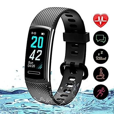 Updated 2019 Version Fitness Trackers HR, Activity Trackers Health Exercise Watch with Heart Rate and Sleep Monitor, Smart Band Calorie Counter, Step Counter, Pedometer Walking for Men Women and Kids by TEMINICE