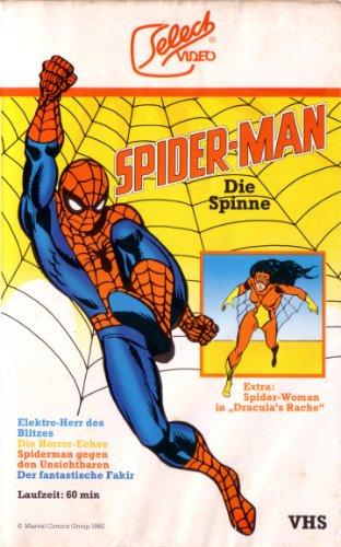 SPIDER-MAN - DIE SPINNE (Episoden: Elektro-Herr des Blitzes - Die Horror-Echse - Spiderman gegen den Unsichtbaren - Der fantastische Fakir. EXTRA: Spider-Woman in
