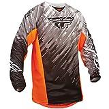 Fly 2015 Motocross / MTB Jersey - Kinetic Glitch - schwarz-weiß-orange: Größe Jersey: M